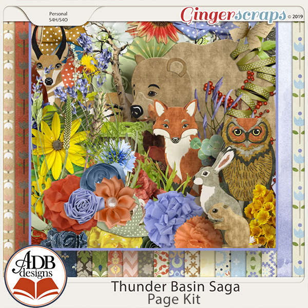 Thunder Basin Saga Page Kit by ADB Designs