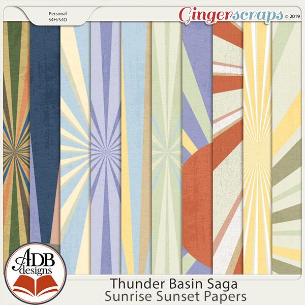 Thunder Basin Saga Sunrise Sunset Papers by ADB Designs