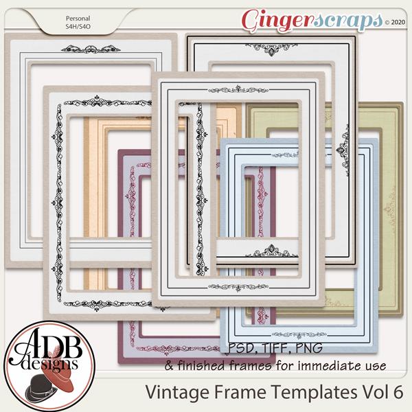Heritage Resource - Vintage Frame Templates Vol 06 by ADB Designs