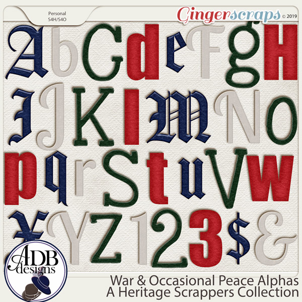 War and Occasional Peace Alphas by ADB Designs