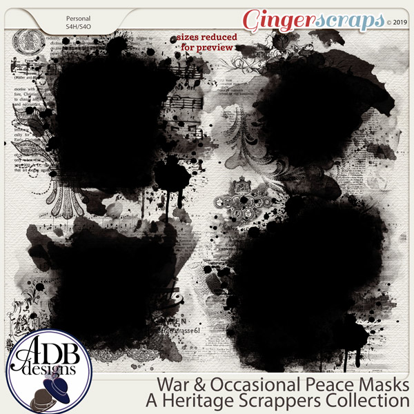 War and Occasional Peace Masks by ADB Designs