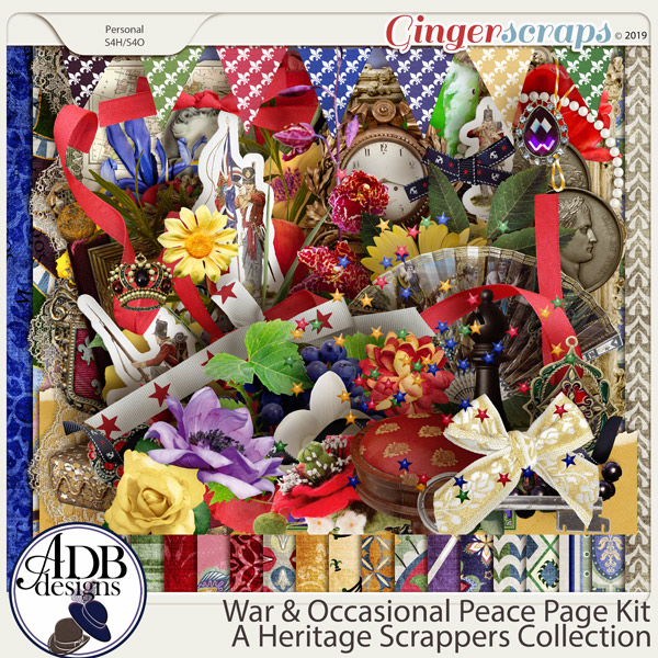 War and Occasional Peace Page Kit by ADB Designs