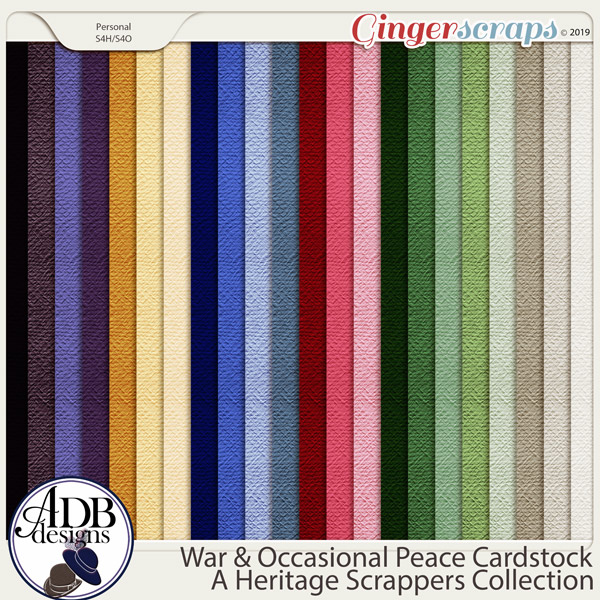 War and Occasional Peace Solid Papers by ADB Designs