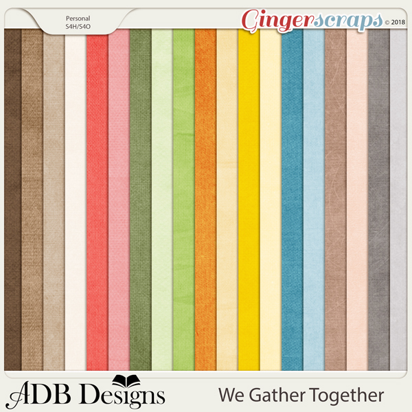 We Gather Together Cardstock Solids by ADB Designs