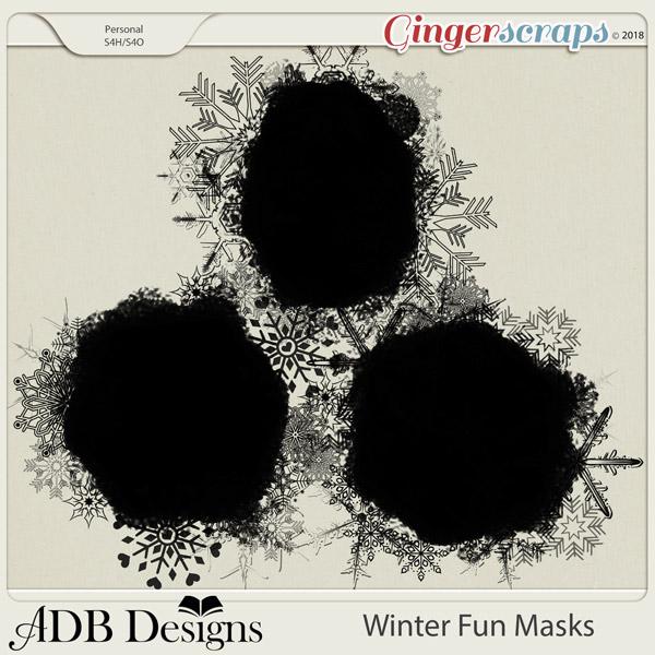 Winter Fun Masks by ADB Designs