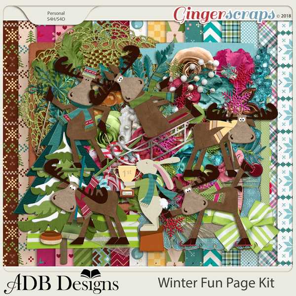 Winter Fun Page Kit by ADB Designs