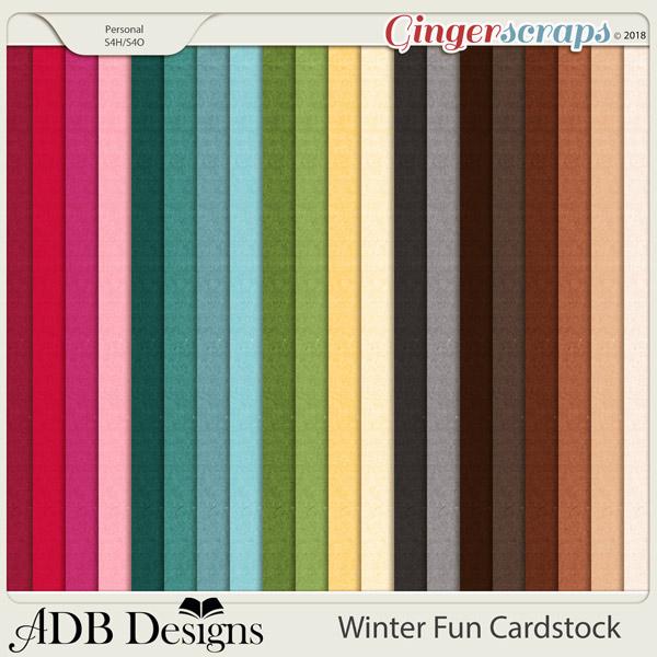 Winter Fun Cardstock Solids by ADB Designs