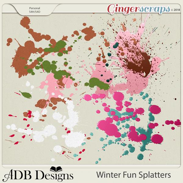 Winter Fun Splatters by ADB Designs