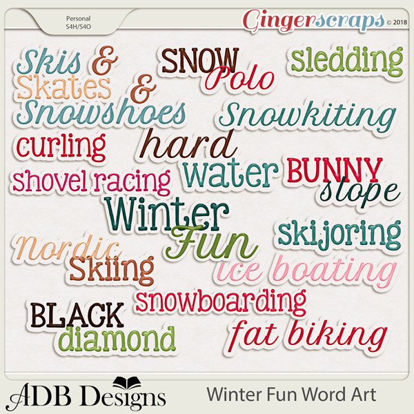 Winter Fun Word Art by ADB Designs