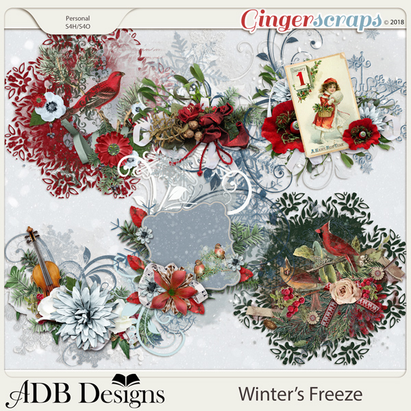 Winter's Freeze Clusters by ADB Designs