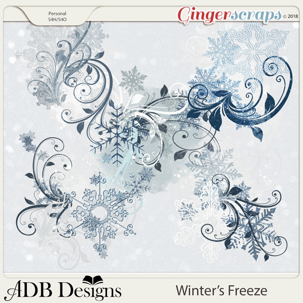 Winter's Freeze Flourishes & Stamps
