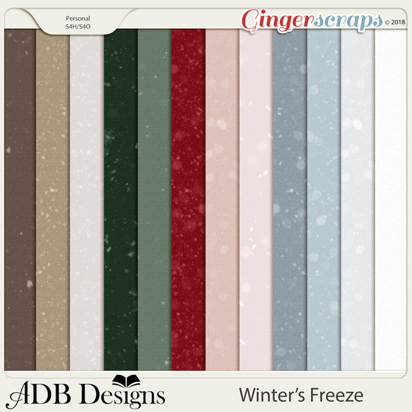 Winter's Freeze Snowfall Solids by ADB Designs