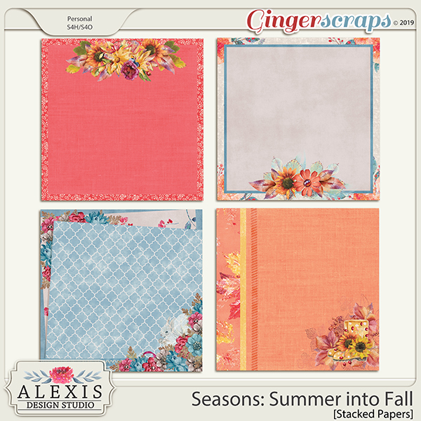 Seasons: Summer into Fall - Stacked Paper Pack