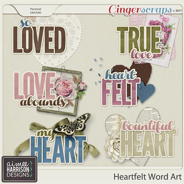 Heartfelt Word Art