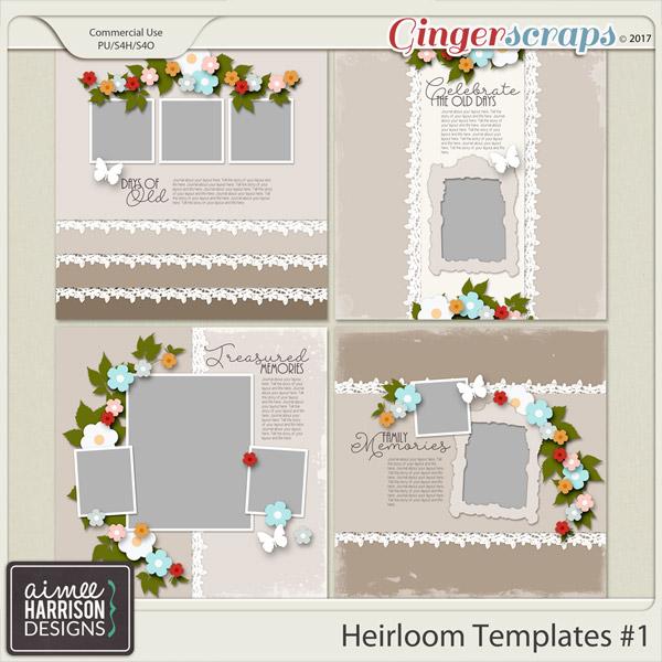 Heirloom Templates Set #1 by Aimee Harrison