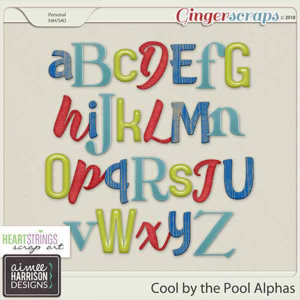 Cool By the Pool Alpha Sets by Aimee Harrison and HSA