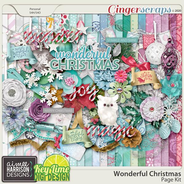 Wonderful Christmas Page Kit by Aimee Harrison and Key Lime Digi Design