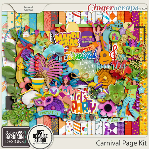 Carnival Page Kit by Aimee Harrison and JB Studio