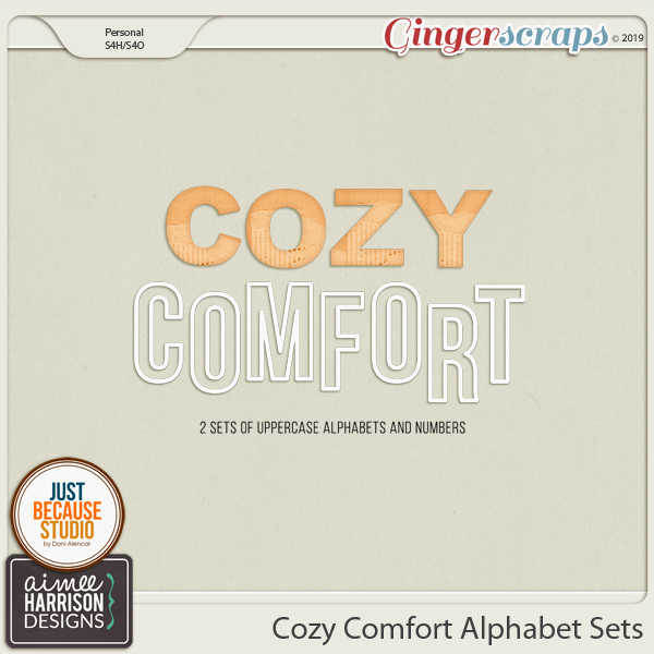 Cozy Comfort Alpha Sets by Aimee Harrison and JB Studio