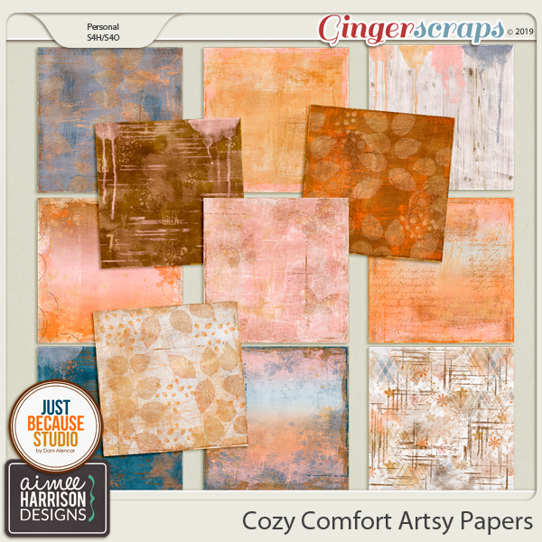 Cozy Comfort Artsy Papers by Aimee Harrison and JB Studio