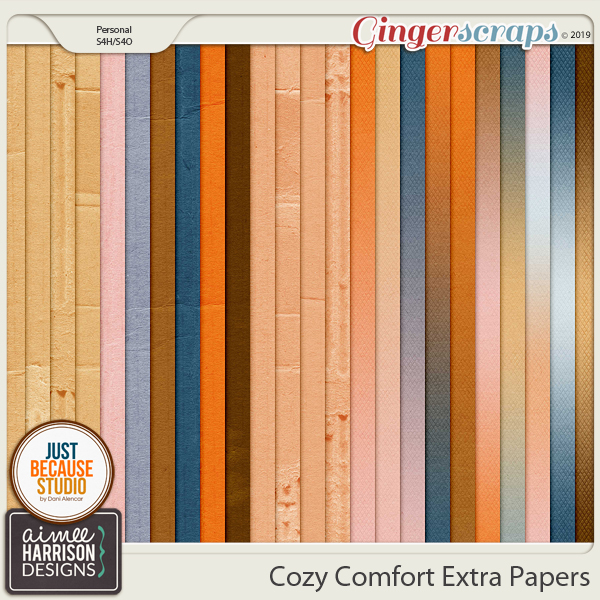 Cozy Comfort Extra Papers by Aimee Harrison and JB Studio