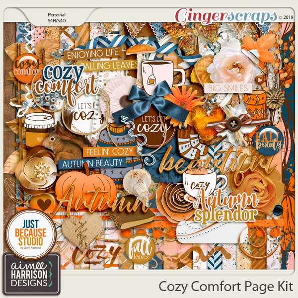 Cozy Comfort Page Kit by Aimee Harrison and JB Studio