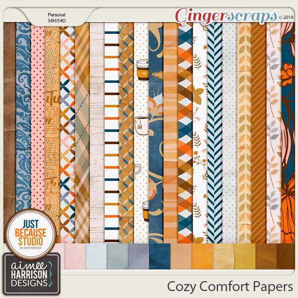 Cozy Comfort Paper Pack by Aimee Harrison and JB Studio