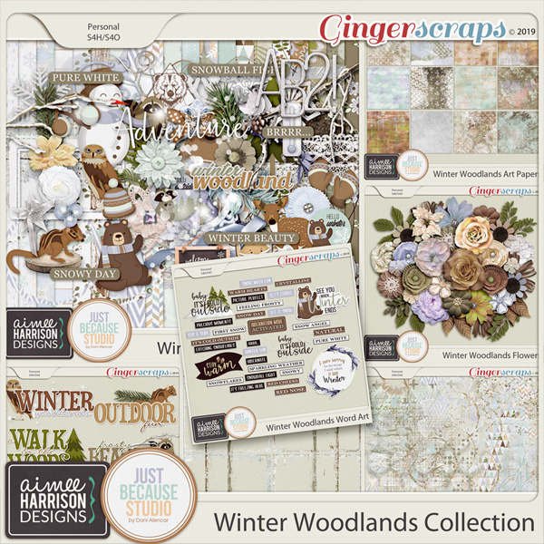 Winter Woodlands Collection by Aimee Harrison and JB Studio