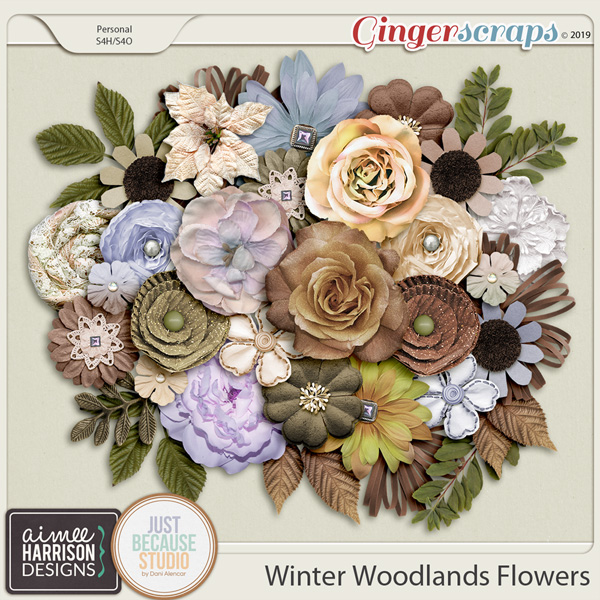 Winter Woodlands Flowers by Aimee Harrison and JB Studio
