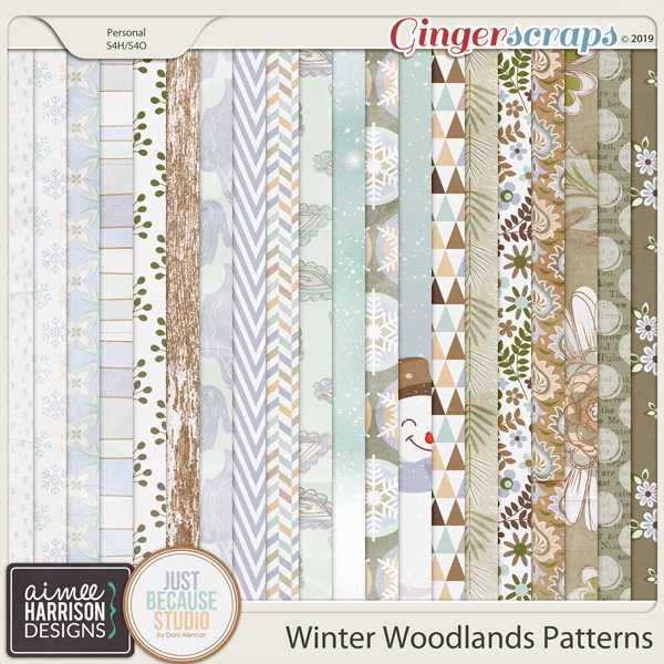 Winter Woodlands Paper Pack by Aimee Harrison and JB Studio