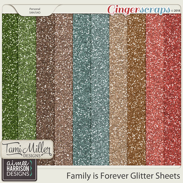 Family is Forever Glitter Sheets