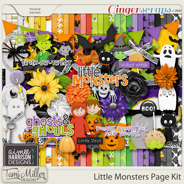 Little Monsters Page Kit by Aimee Harrison and Tami Miller
