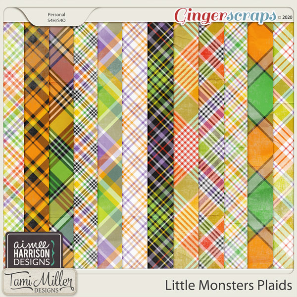 Little Monsters Plaid Papers by Aimee Harrison and Tami Miller