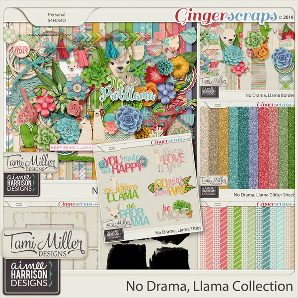 No Drama Llama Bundle by Tami Miller Designs