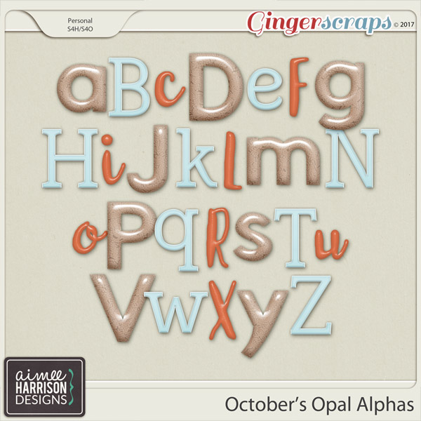 October's Opal Alpha Sets by Aimee Harrison