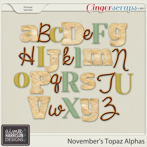 November's Topaz Alpha Sets by Aimee Harrison