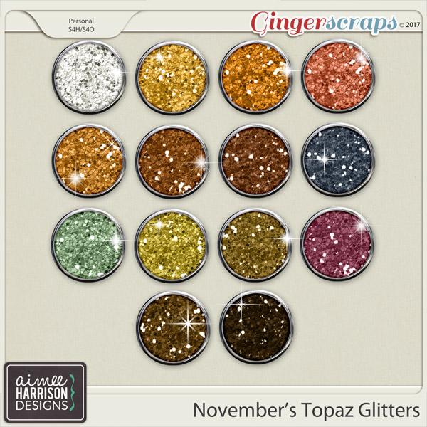 November's Topaz Glitters by Aimee Harrison