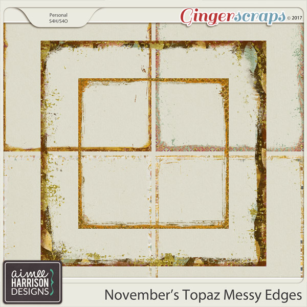 November's Topaz Messy Edges by Aimee Harrison