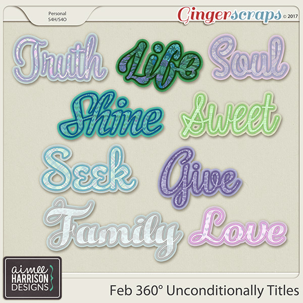 360°Life February: Unconditionally Word Art