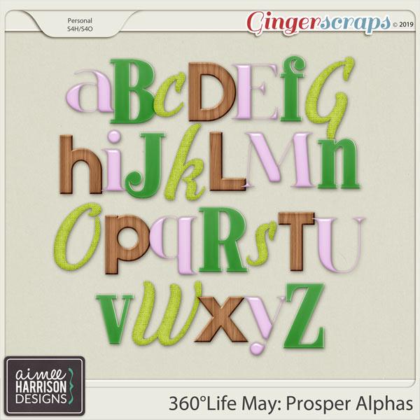360°Life May: Prosper Alpha Sets by Aimee Harrison