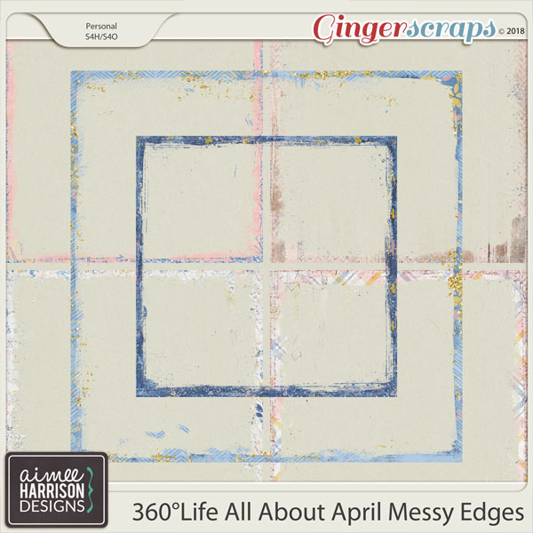 360°Life All About April Messy Edges by Aimee Harrison