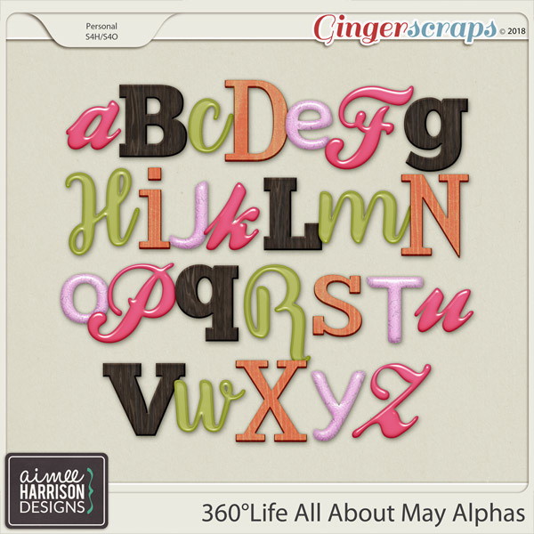 360°Life All About May Alpha Sets by Aimee Harrison
