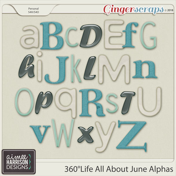 360°Life All About June Alpha Sets by Aimee Harrison