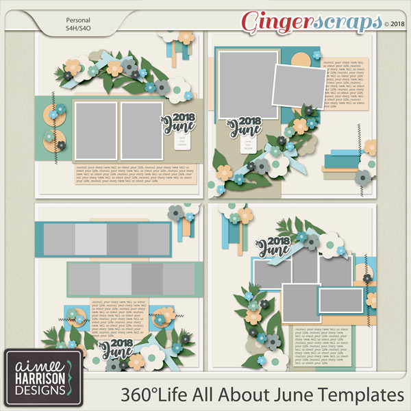 360°Life All About June Templates by Aimee Harrison