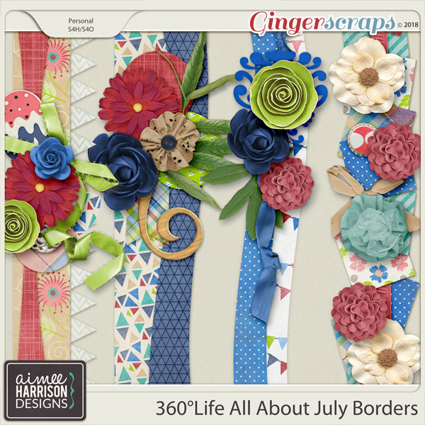 360°Life All About July Borders by Aimee Harrison