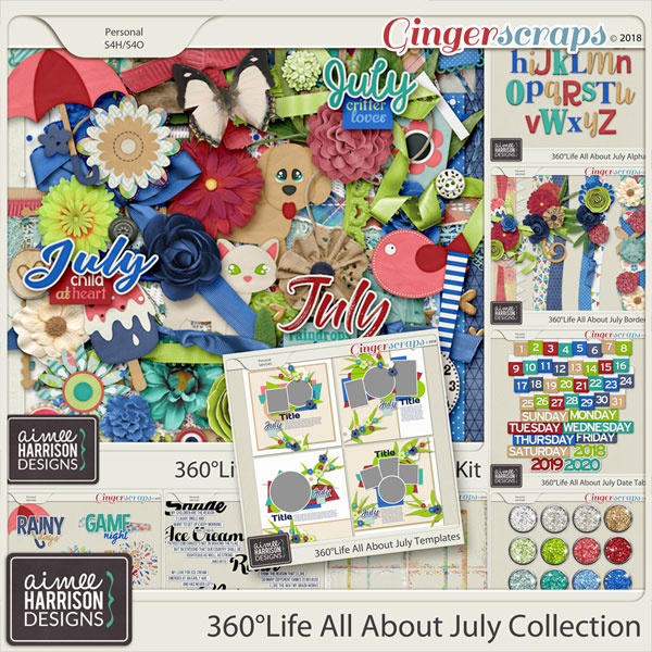 360°Life All About July Collection by Aimee Harrison