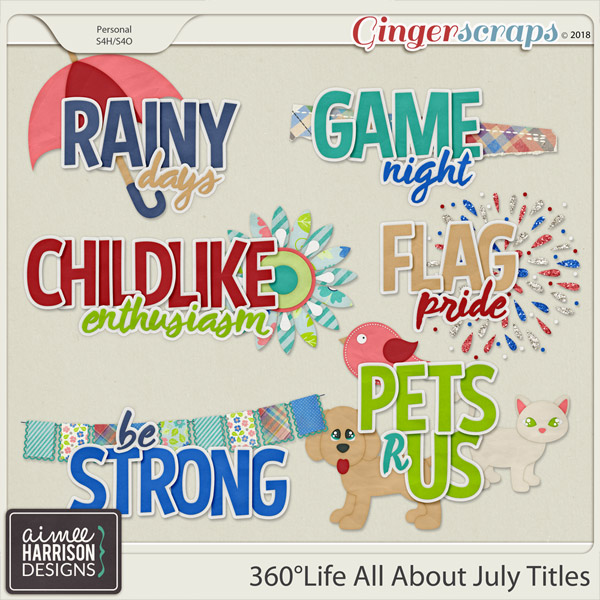 360°Life All About July Titles by Aimee Harrison