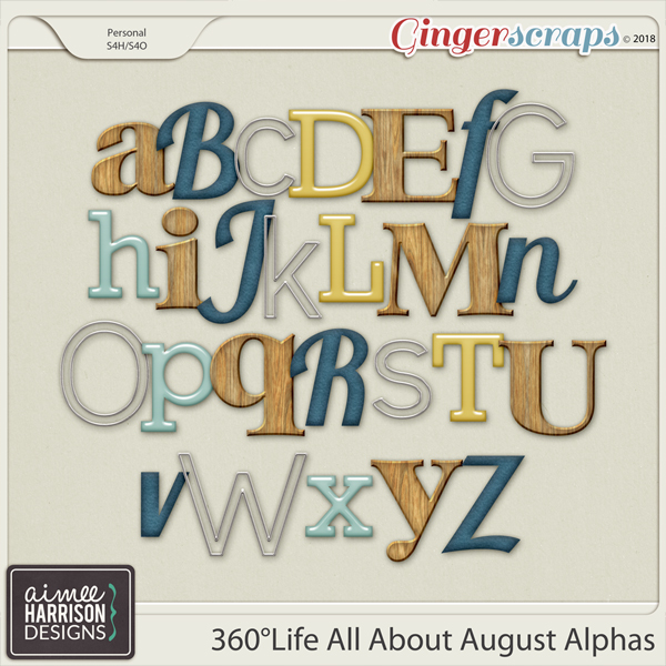 360°Life All About August Alpha Sets by Aimee Harrison