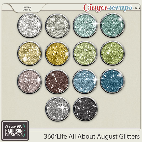 360°Life All About August Glitters by Aimee Harrison
