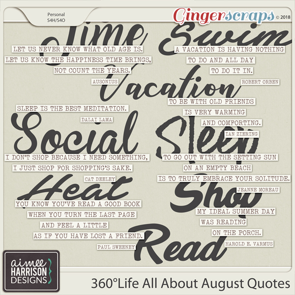 360°Life All About August Quotes by Aimee Harrison